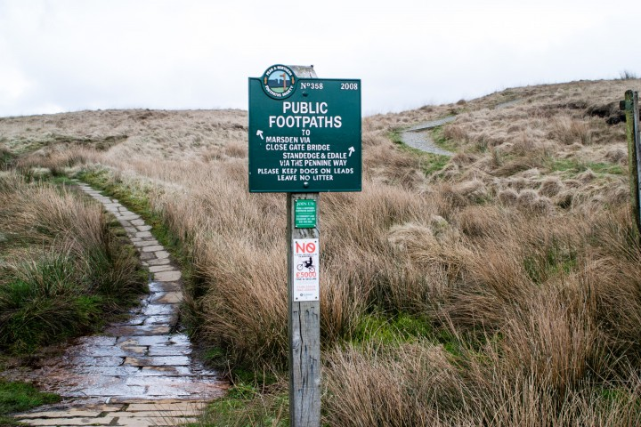 Pennine Way Signpost