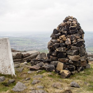 Trig Point and Cairn on West Nab