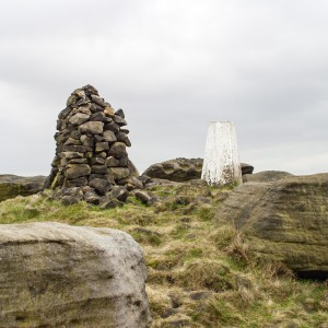 Trig Point and Cairn on West Nab 2