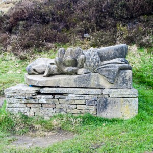 Sculpture near Blakeley Reservoir