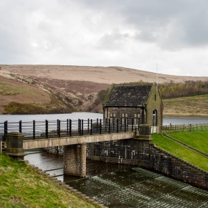 Butterley reservoir and Spillway