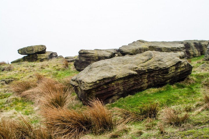 Large rocks near Withens Clough reservoir
