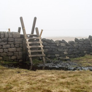 A ladder stile near Stoodley Pike
