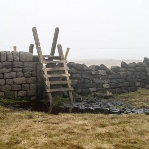 A ladder stile near Stoodley Pike