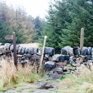 Dry Stone Wall steps near Stoodley Pike