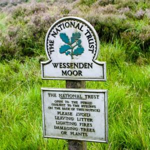 National Trust Wessenden Moor Signpost