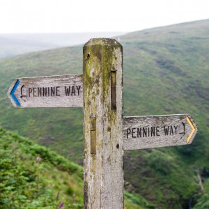 Signpost for the Pennine Way, Wessenden Valley
