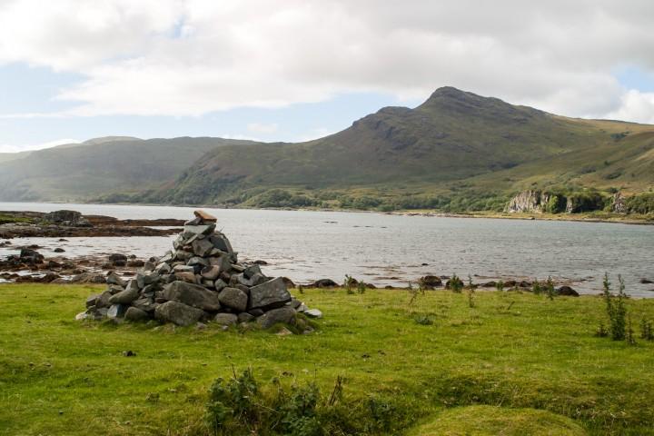Lochside cairn